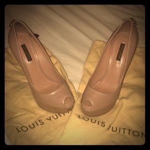Louis Vuitton Lock Peep Toe Shoes